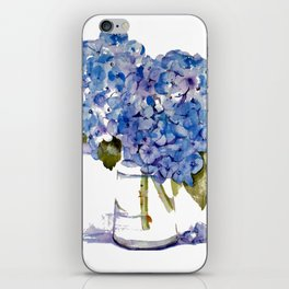 Cape Cod Hydrangea Large Canvas iPhone Skin