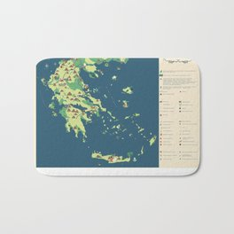 MAP OF GREECE Bath Mat