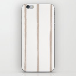 Skinny Strokes Gapped Vertical Nude on Off White iPhone Skin