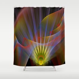 Inner light, spiritual fractal abstract Shower Curtain