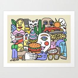 Road Trip by Swirvington Art Print