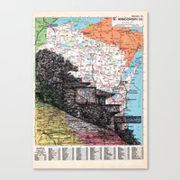 wisconsin Canvas Prints featuring Wisconsin by Ursula Rodgers