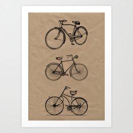 Vintage bicycle artwork Art Print