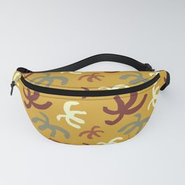 abstract planty shapes on goldenrod Fanny Pack