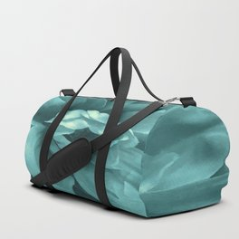 Soft Teal Flower Duffle Bag