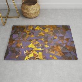 Purple Gold Low Poly Geometric Art Rug
