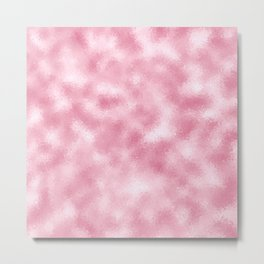 Strawberry & Cream Reflective Abstract Background Metal Print