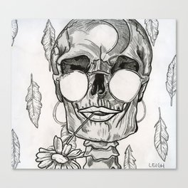 Over My Dead Body Canvas Print