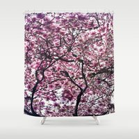 cherry Shower Curtains featuring Cherry by alicia kiah