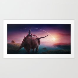 Mystical Time Zone Art Print