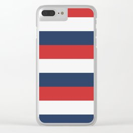 Barber Rugby Stripe Clear iPhone Case