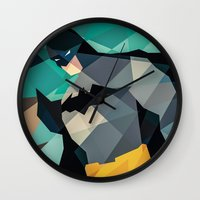 dc comics Wall Clocks featuring DC Comics Superhero by Eric Dufresne