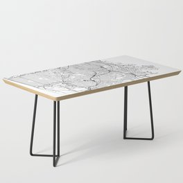 San Francisco White Map Coffee Table