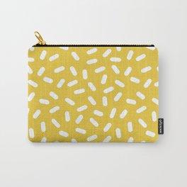 Somethin' Somethin' - yellow bright happy sprinkles pills dash pattern rad minimal prints Carry-All Pouch
