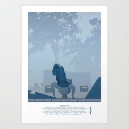 Jurassic Park poster - feat. Donald Gennaro Art Print