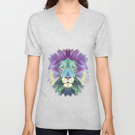 Colorful Lion Unisex V-Neck