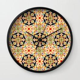 Pastel Carousel Pattern Wall Clock