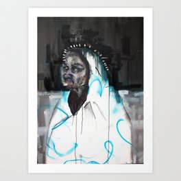 Darkest blues  Art Print
