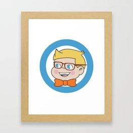 Jimmy in ring of blue Framed Art Print