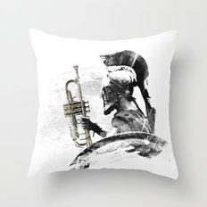 Trumpet Warrior Throw Pillow