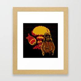 Nuclear explosion Framed Art Print