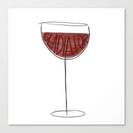 Wine Gladiator Canvas Print