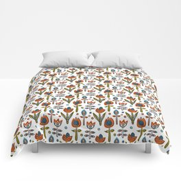 Pattern in Nordic Floral Style #12 Comforters