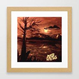 Canyon chain smoke Framed Art Print