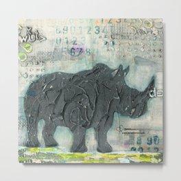 Majestic Series: Rhino on a roll Metal Print