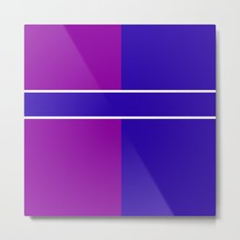 Team Colors 6....Blue,purple Metal Print