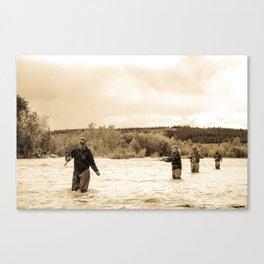 Evening Catch Canvas Print