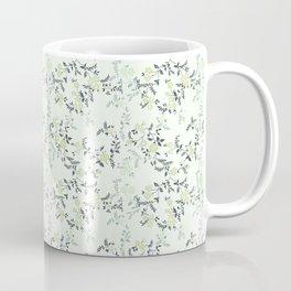 Mint Floral Coffee Mug