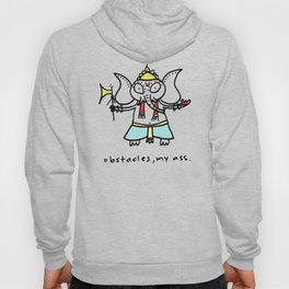 obstacles, my ass (ganesha) Hoody