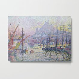 View of the Port of Marseilles Metal Print