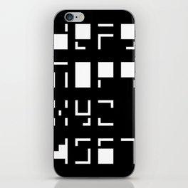 Alphanumerique iPhone Skin