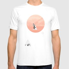 FROM EARTH White MEDIUM Mens Fitted Tee