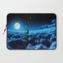 Tardis Cloud And Moon Laptop Sleeve