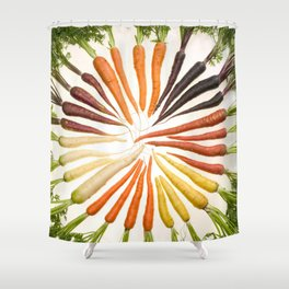 Carrot Color Wheel Shower Curtain