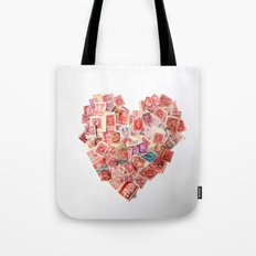 A Heart For Postage Tote Bag