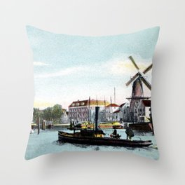Rotterdam Achterhaven 1890 Throw Pillow