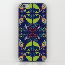 Peacock Nouveau iPhone Skin