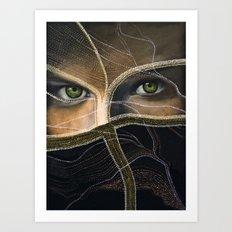 emerald eyes Art Print