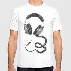 Headphone Culture MEDIUM Mens Fitted Tee White