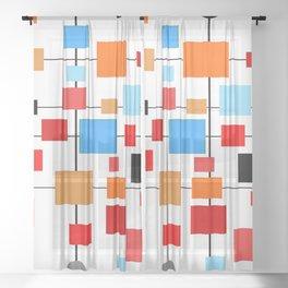 Mid-Century Modern Art 1.3.3 Sheer Curtain