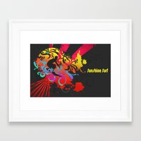 surfer Framed Art Prints featuring Surfer by Allison Reich