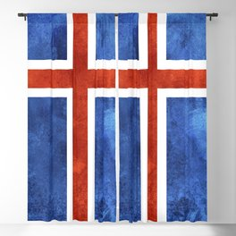 Icelandic Flag Blackout Curtain