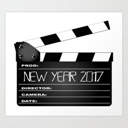 New Year 2017 Clapperboard Art Print