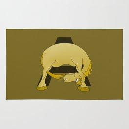 Pony Monogram Letter A Rug