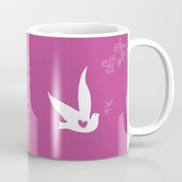Wings of Love - Purple Coffee Mug