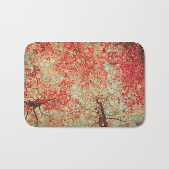 Autumn Reds Bath Mat